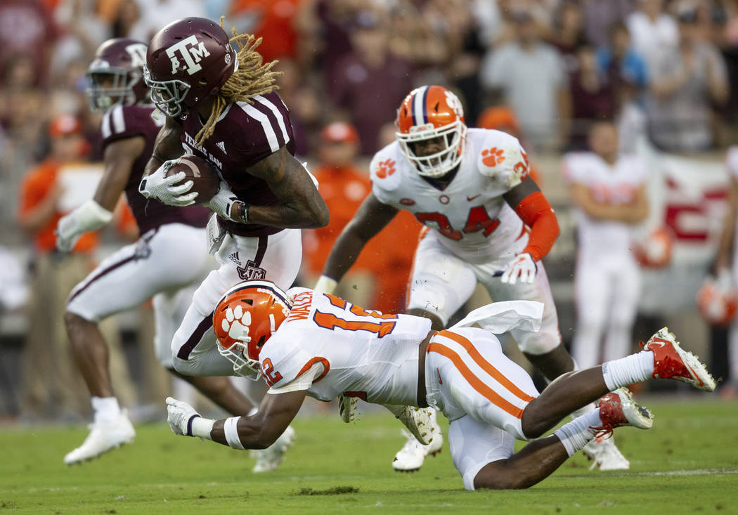 FILE - In this Saturday, Sept. 8, 2018, file photo, Texas A&M wide receiver Kendrick Rogers ...