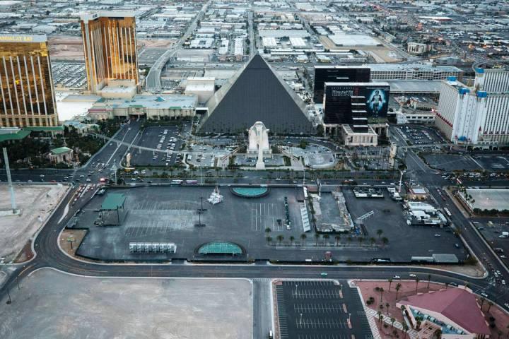 The Las Vegas Village festival grounds, site of the Route 91 Harvest massacre, on the Las Vegas ...