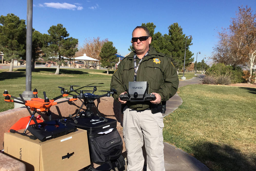 Metropolitan Police Department officer David Martel is the department's small unmanned aerial s ...