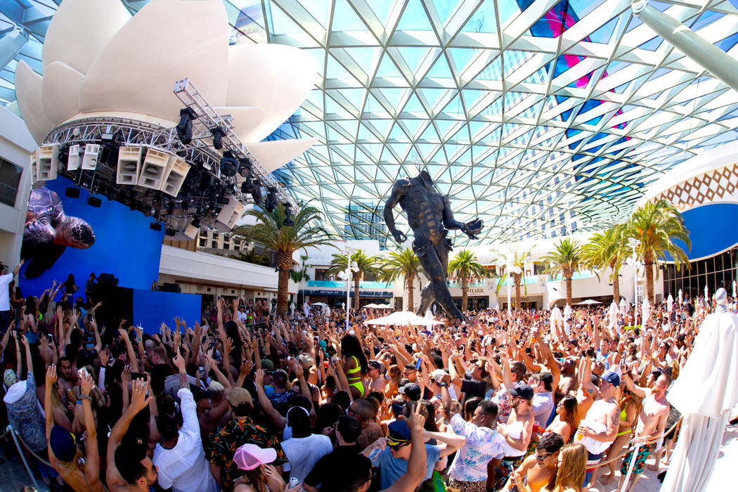 A rendering of the new Kaos Dome at Kaos Nightclub and Dayclub. (Palms)