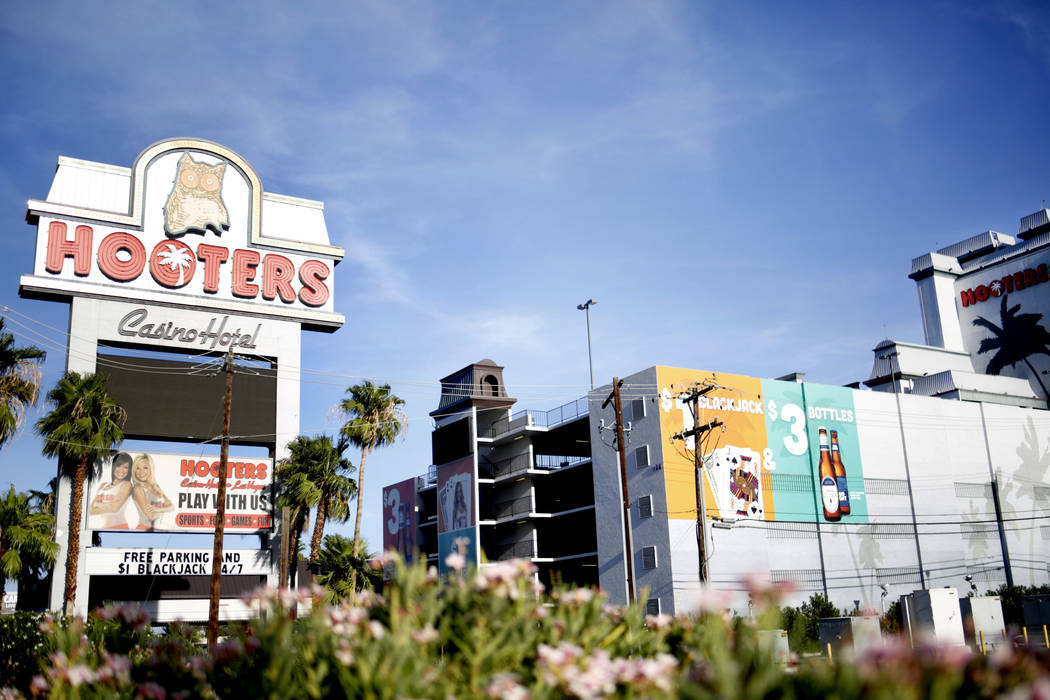 Hooters Hotel on Tropicana Boulevard in Las Vegas is seen on Friday, Aug. 23, 2019. The hotel ...