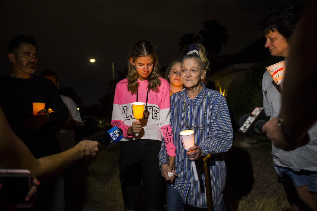 Kelsi Jackson, 15, left, and her grandmother, Mary Ann Ratay, talk about their favorite memorie ...