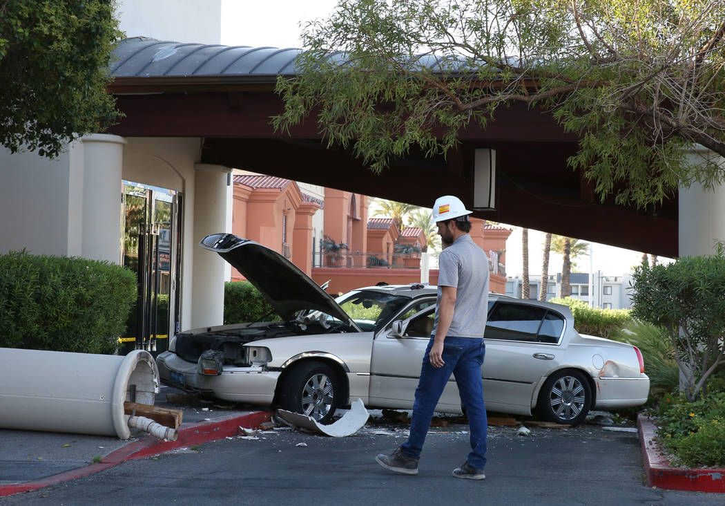 A driver suspected of being under the influence crashed his vehicle into Morton's The Steakhous ...