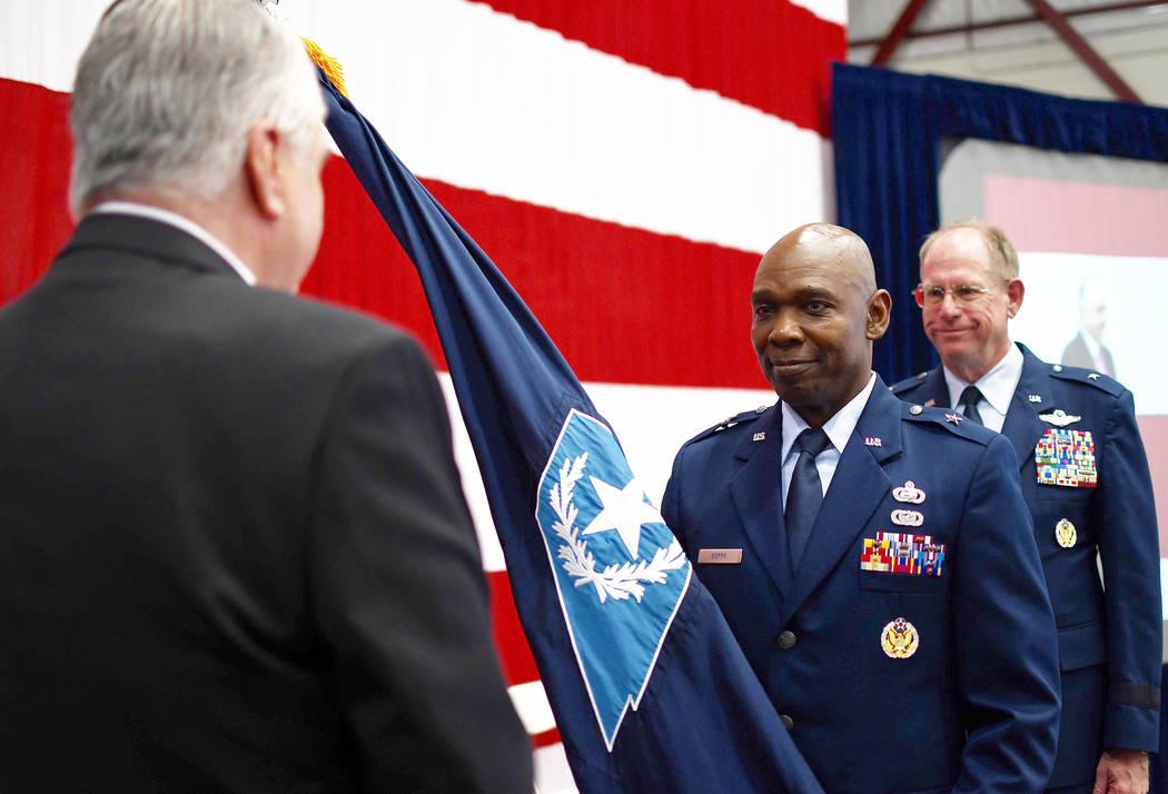 Brig. Gen. Ondra Berry, center, receives command of theʎevadaʎationalʇuard&#x ...