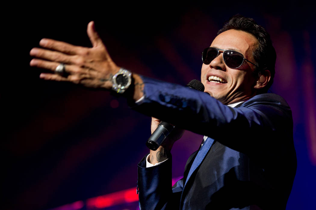 Singer Marc Anthony performs in concert during the Gigantes Tour which also features Chayanne a ...
