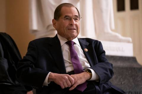 In a July 26, 2019, file photo, House Judiciary Committee Chairman Jerrold Nadler, D-N.Y., prep ...