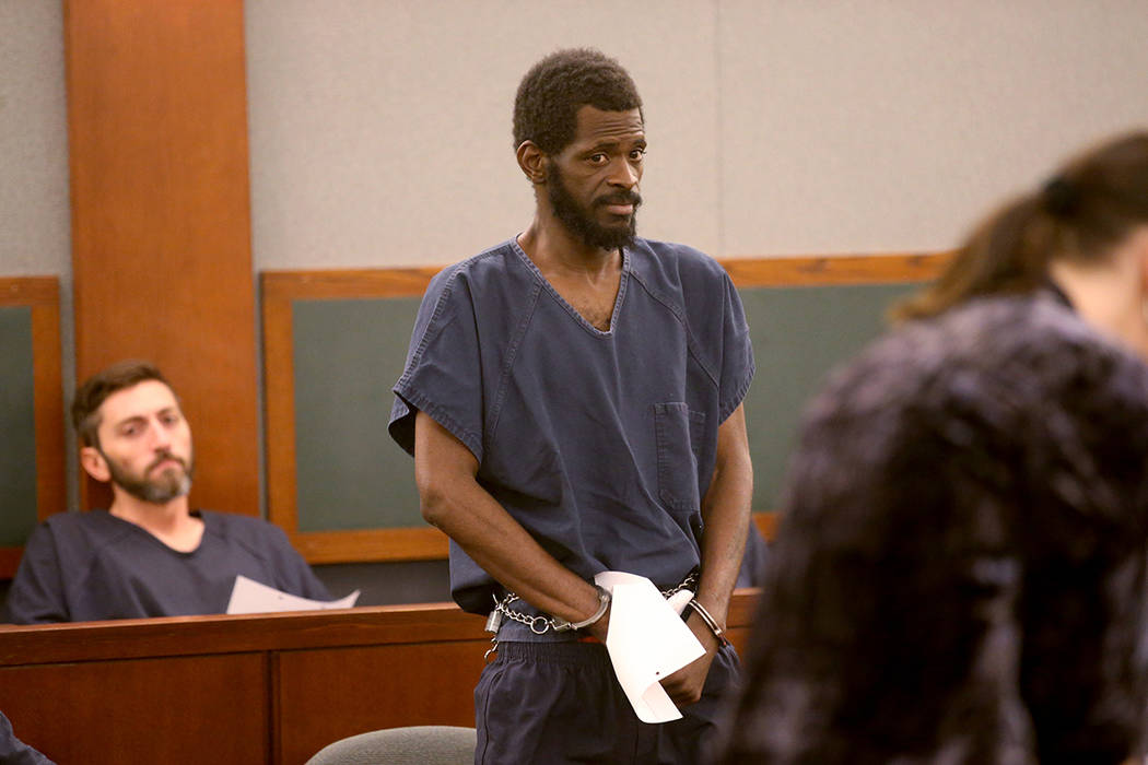 Clinton Taylor appears in court with Deputy Public Defender Sarah Hawkins at the Regional Justi ...