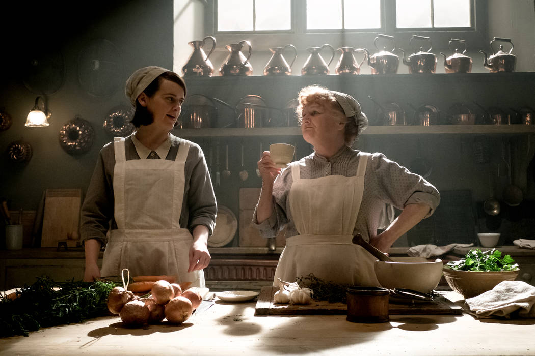 Sophie McShera stars as Daisy Mason and Lesley Nicol as Mrs. Patmore in Downtown Abbey. (Jaap ...
