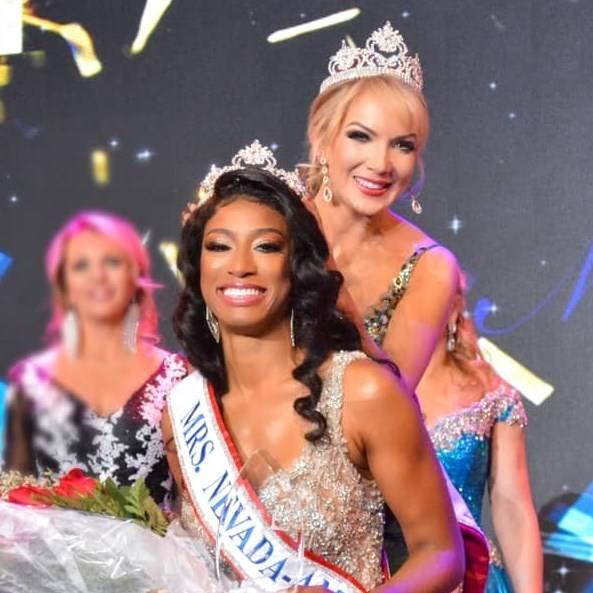 Las Vegas resident Natalie Winslow is crowned Mrs. Nevada in June. (Natalie Winslow)