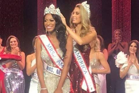 Las Vegas resident Natalie Winslow is crowned Mrs. America 2020 in August. (Natalie Winslow)