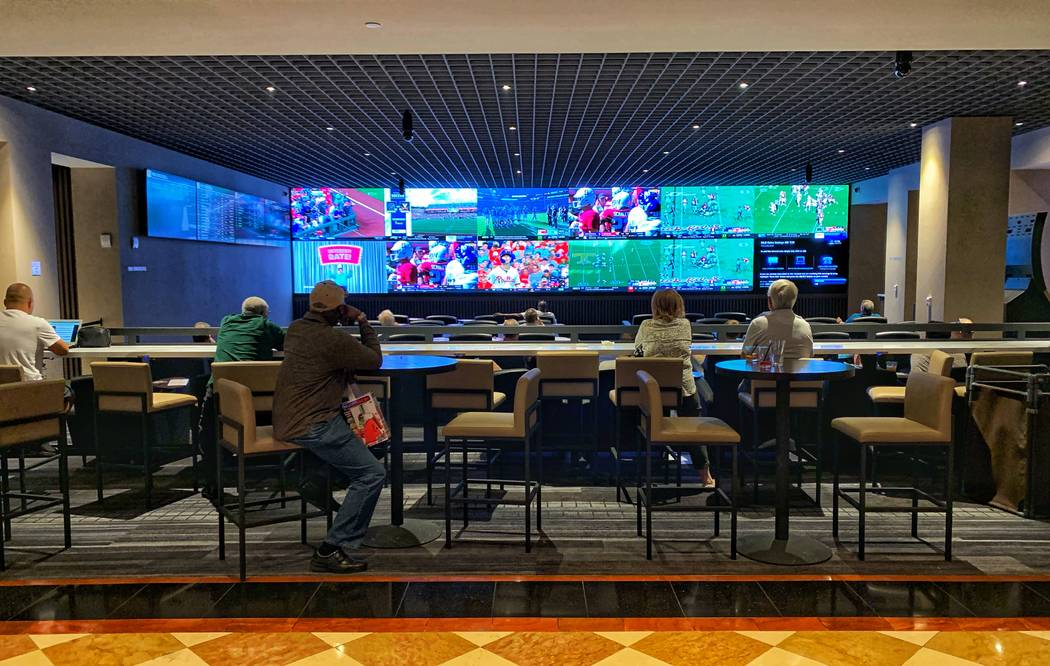 Caesars opened a new sportsbook at Harrah's in Atlantic City in May that features more than 5 ...