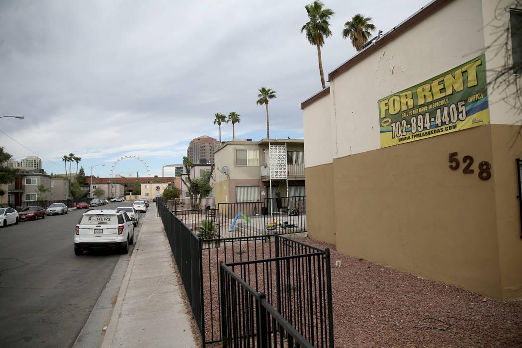 Apartments on Calcaterra Circle in the Palos Verdes neighborhood in Las Vegas Monday, April 15, ...