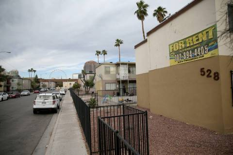Apartments on Calcaterra Circle in the Palos Verdes neighborhood in Las Vegas Monday, April 15, ...