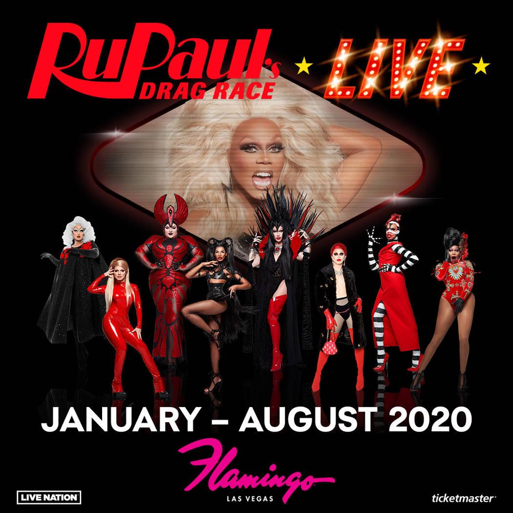 """Ru Paul's Drag Race Live!"" opens 9:30 p.m. Jan. 30. at Flamingo Las Vegas. (Kelly Frey)"