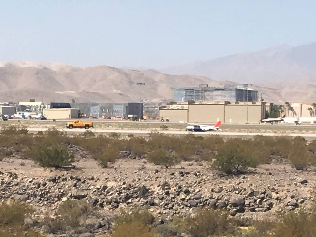 No one was injured Sunday morning after a plane made a hard landing at the Henderson Executive ...