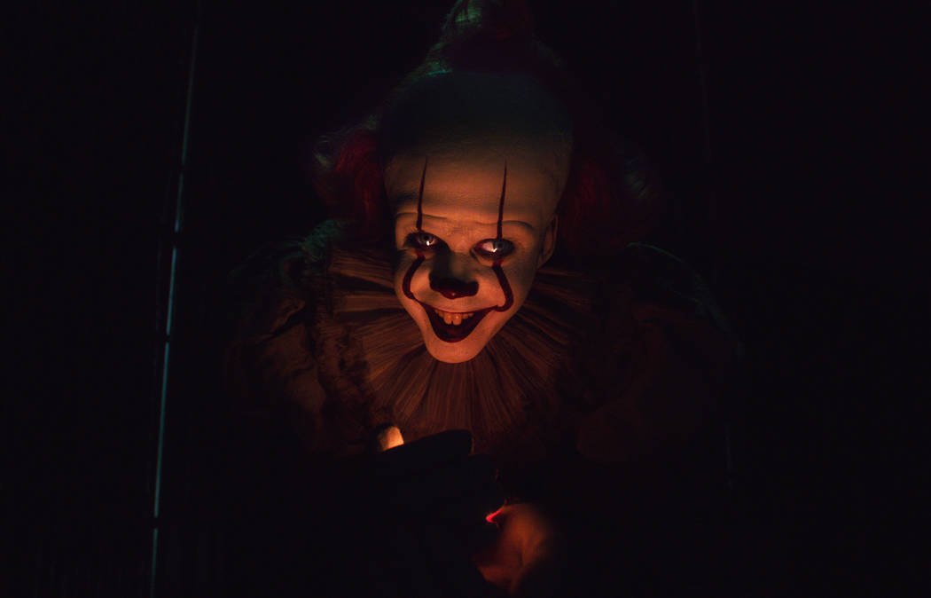 This image released by Warner Bros. Pictures shows Bill Skarsgard as Pennywise in New Line Cine ...