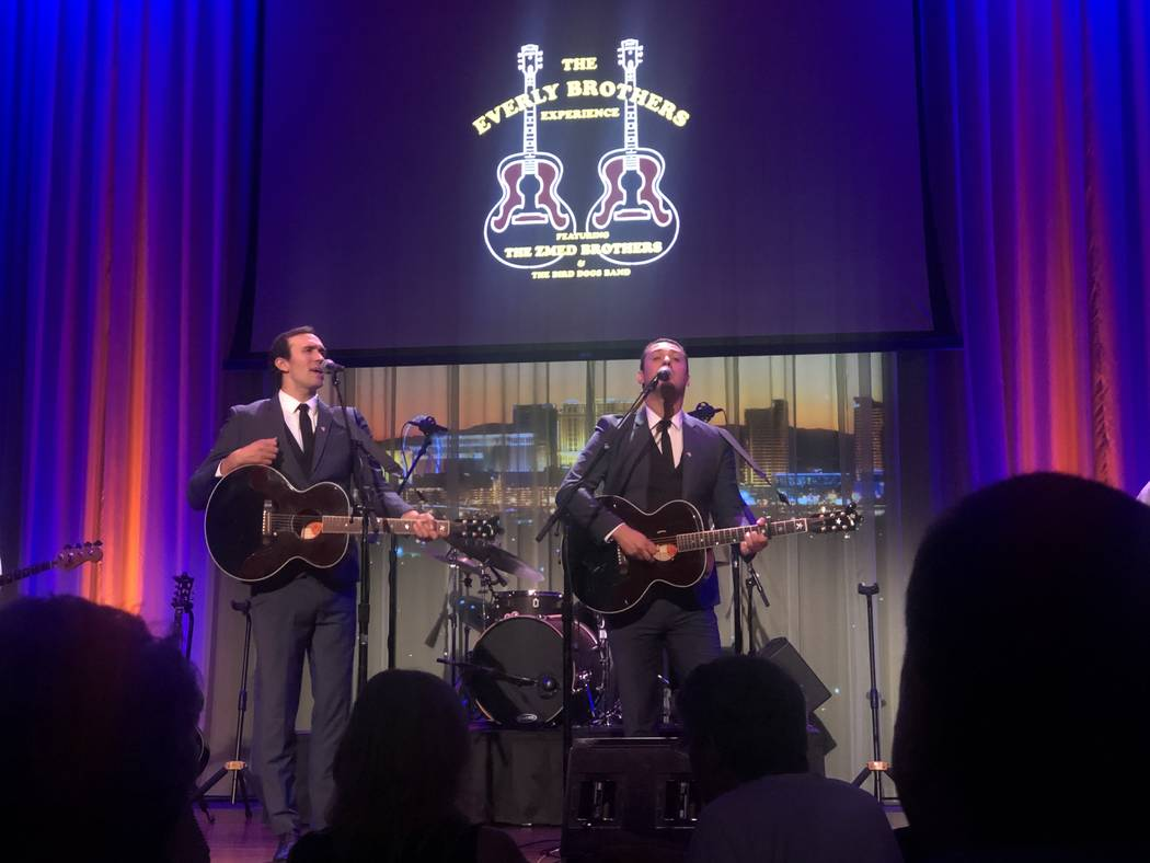 "Dylan and Zach Zmed are shown at Myron's Cabaret Jazz in ""The Everly Brothers Experience"" on Sa ..."