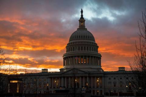 In a Jan. 24, 2019, file photo, the Capitol at sunset in Washington. Facing criticism that the ...