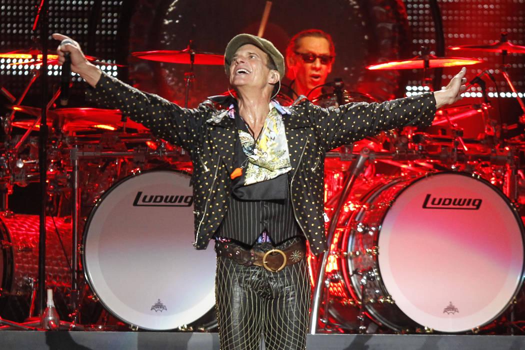 David Lee Roth and drummer Alex Van Halen perform during a Van Halen concert at Madison Square ...