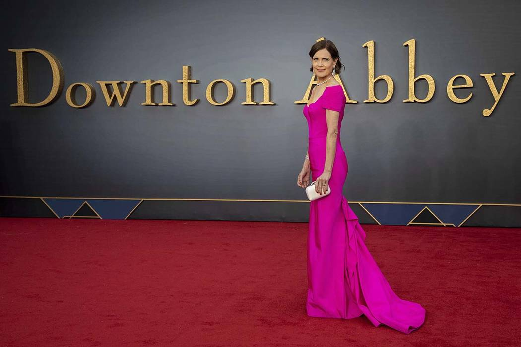"""Actress Elizabeth McGovern arrives at the world premiere of the film """"Downton Abbey"""" in London, ..."""