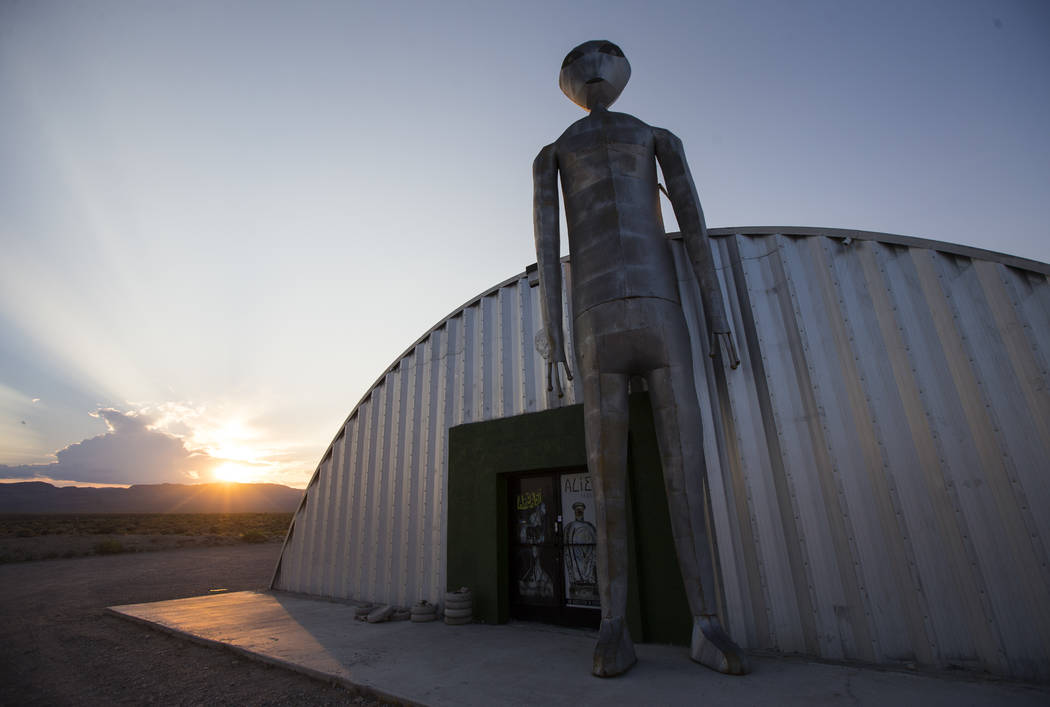 The Alien Research Center in Hiko on Saturday, Aug. 5, 2017. Chase Stevens Las Vegas Review-Jou ...