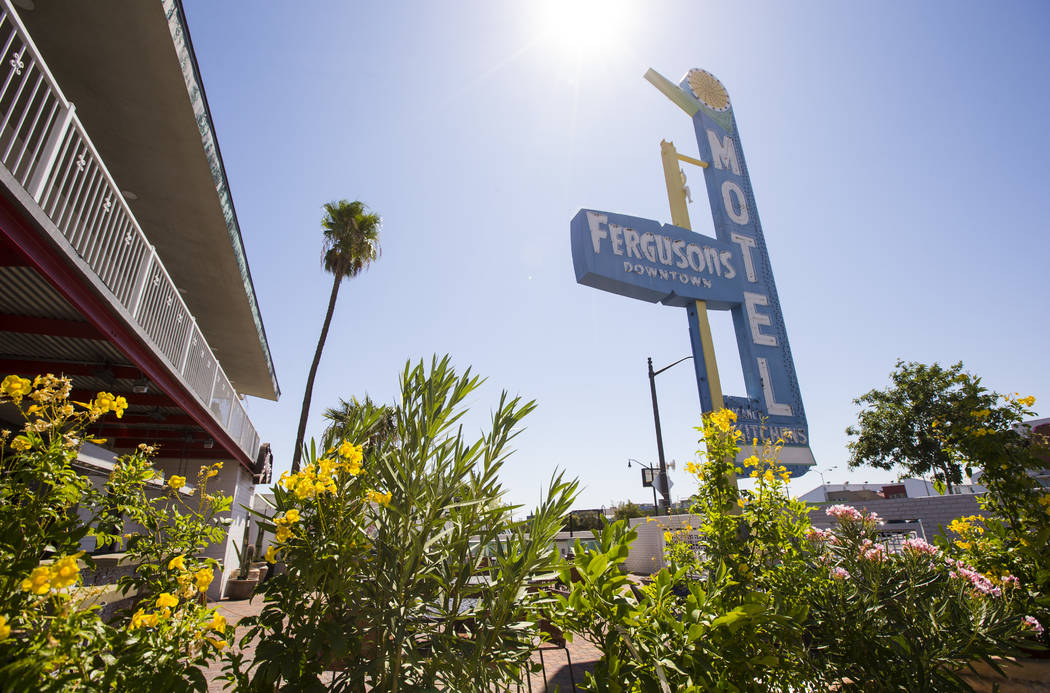 A view of the sign over Fergusons Downtown at Fremont and 11th streets in Las Vegas on Thursday ...