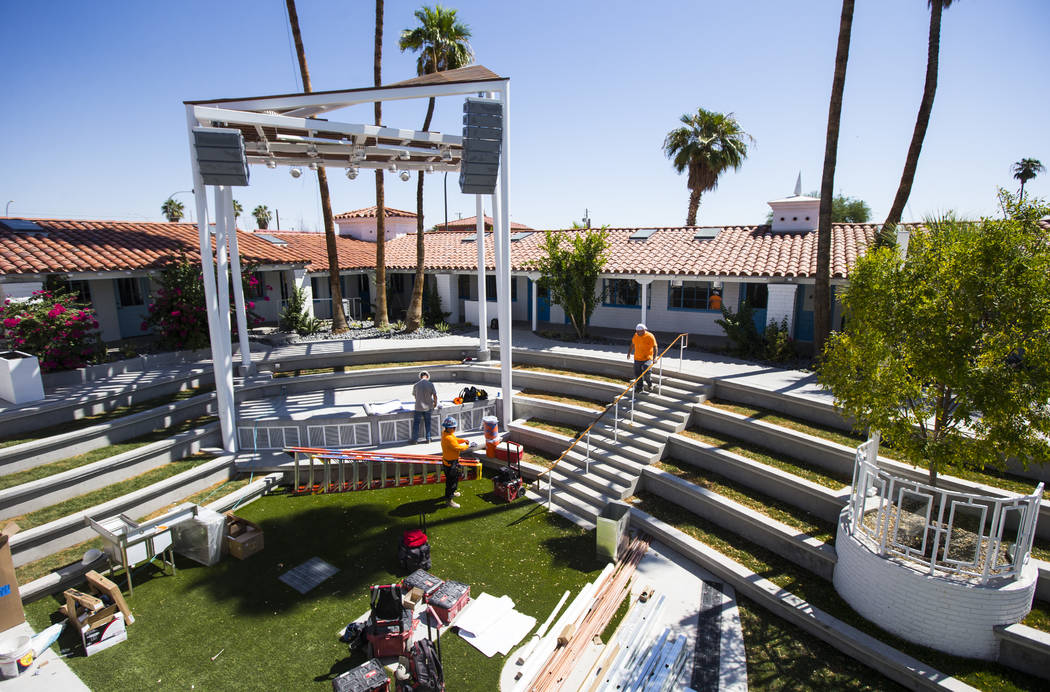A view of the stage at Fergusons Downtown at Fremont and 11th streets in Las Vegas on Thursday, ...