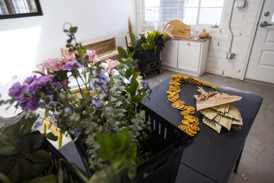Retail space for The Tiny Bloom, a local floral shop, as setup continues at Fergusons Downtown ...