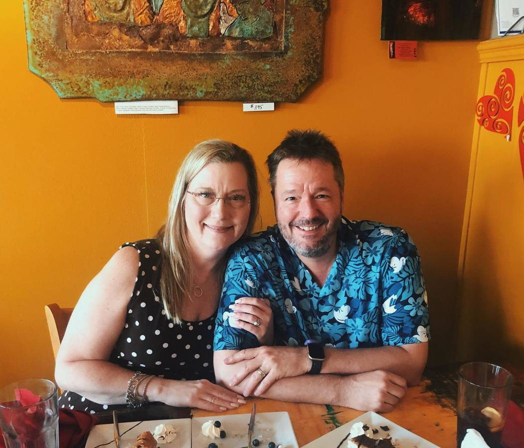 Terry and Angie Fator are shown at Pasta Shop Ristorante in Henderson on Tuesday, Sept. 3, 2019 ...