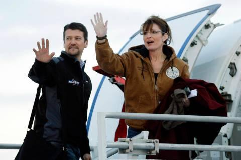 FILE - In this Nov. 4, 2008 file photo, Republican vice presidential candidate Alaska Gov. Sara ...
