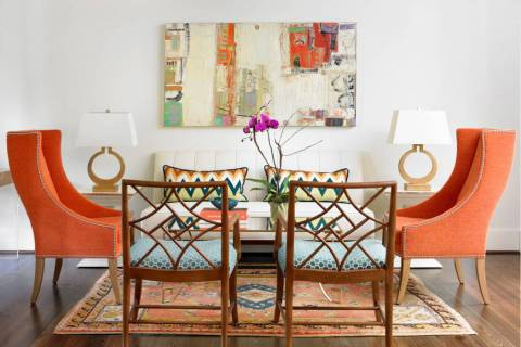 White walls bring out the color of this artwork. (Houzz)