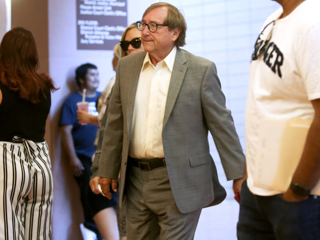 Retired Las Vegas Convention and Visitors Authority CEO Rossi Ralenkotter arrives for court at ...