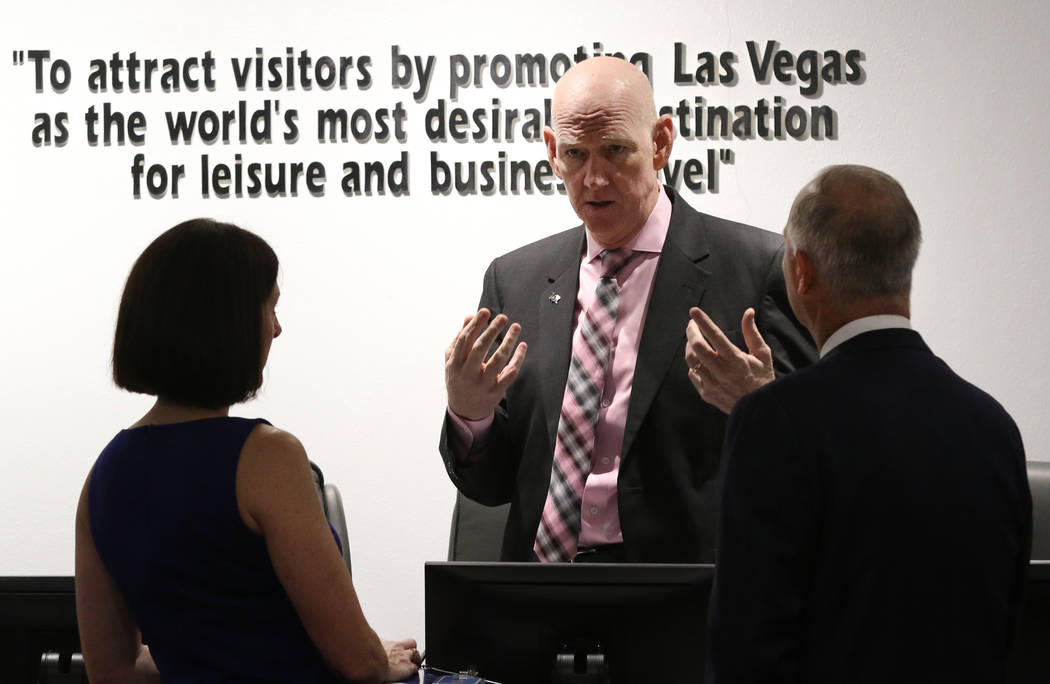 The Las Vegas Convention and Visitors AuthorityBoard Chairman and Clark County Commissioner Lar ...