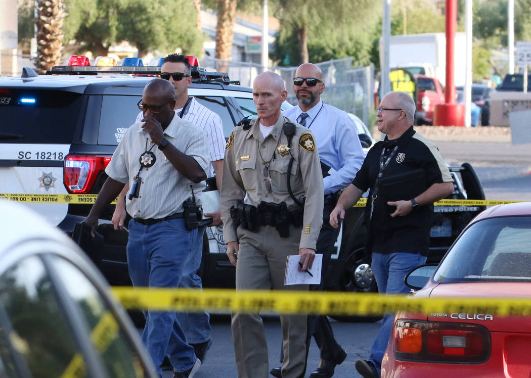 Las Vegas police investigated after a woman was stabbed at Sherwood apartment complex at 2566 S ...