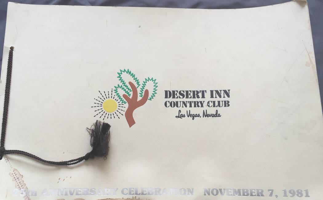 The cover of the official book from the Desert Inn Golf and Country Club 25th anniversary gala, ...