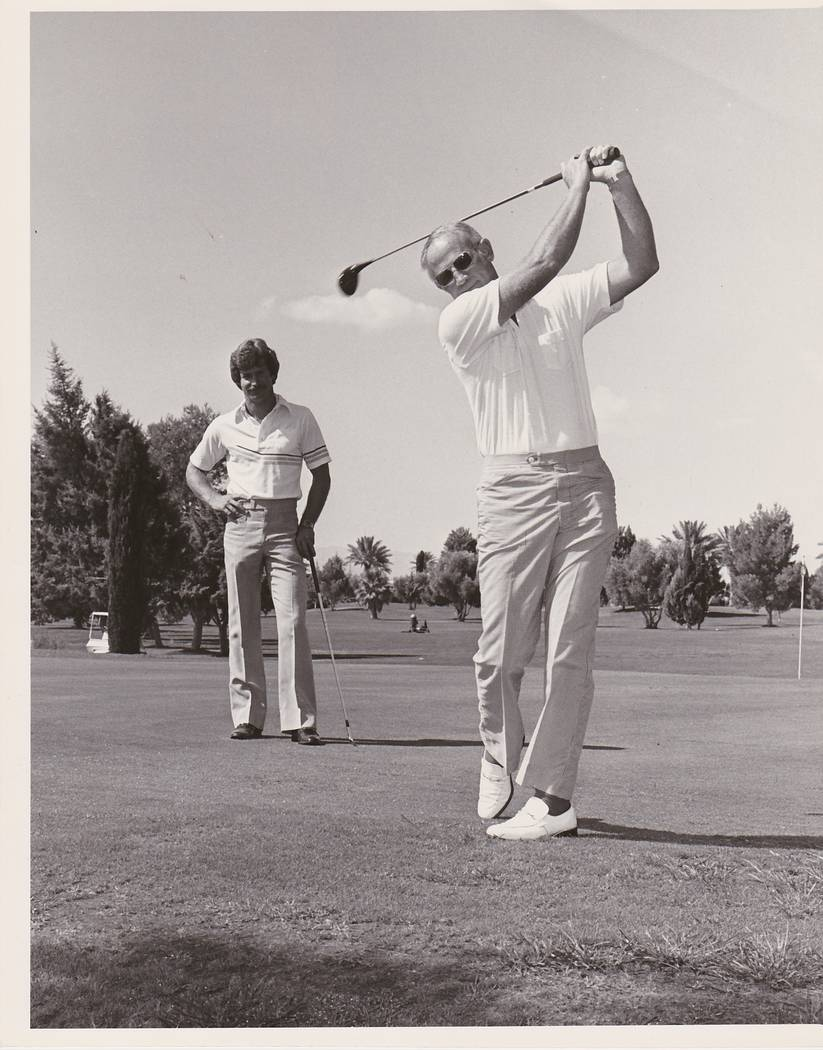 The late Don Welch, a 2019 Las Vegas Golf Hall of Fame inductee, was front and center to Las Ve ...