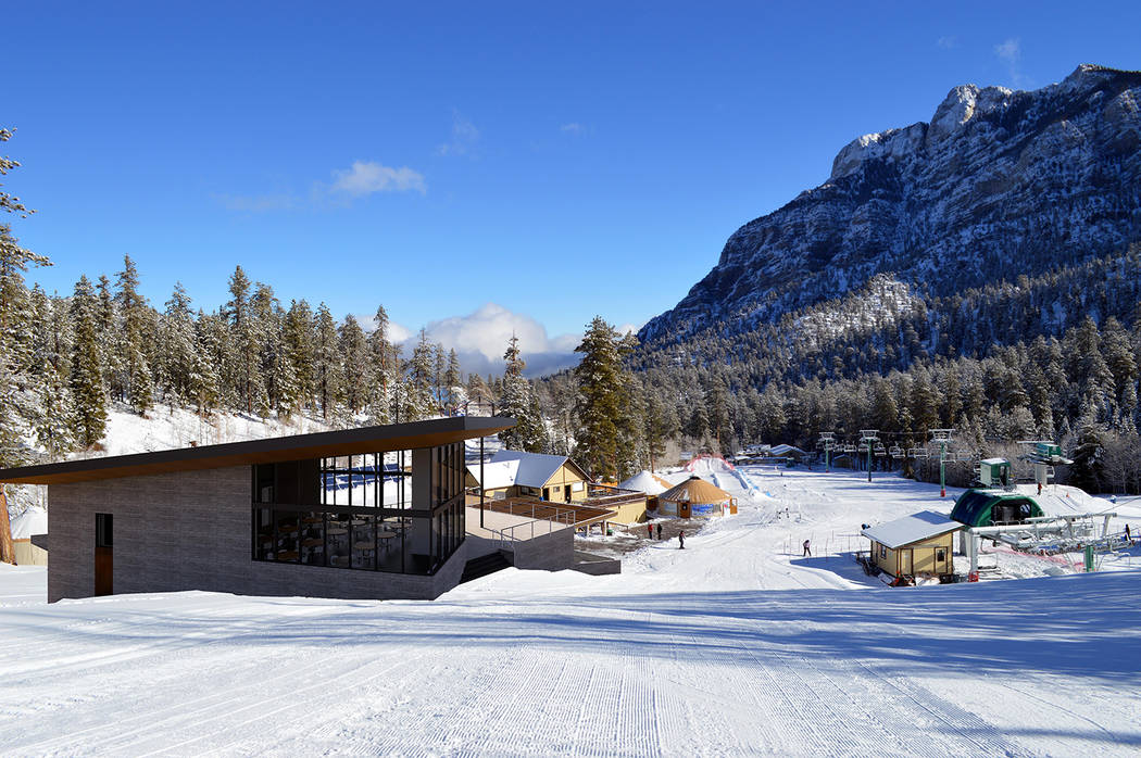 The new day lodge will include a heated outdoor terrace, ski-in-and-out bar and coffee shop (Hi ...