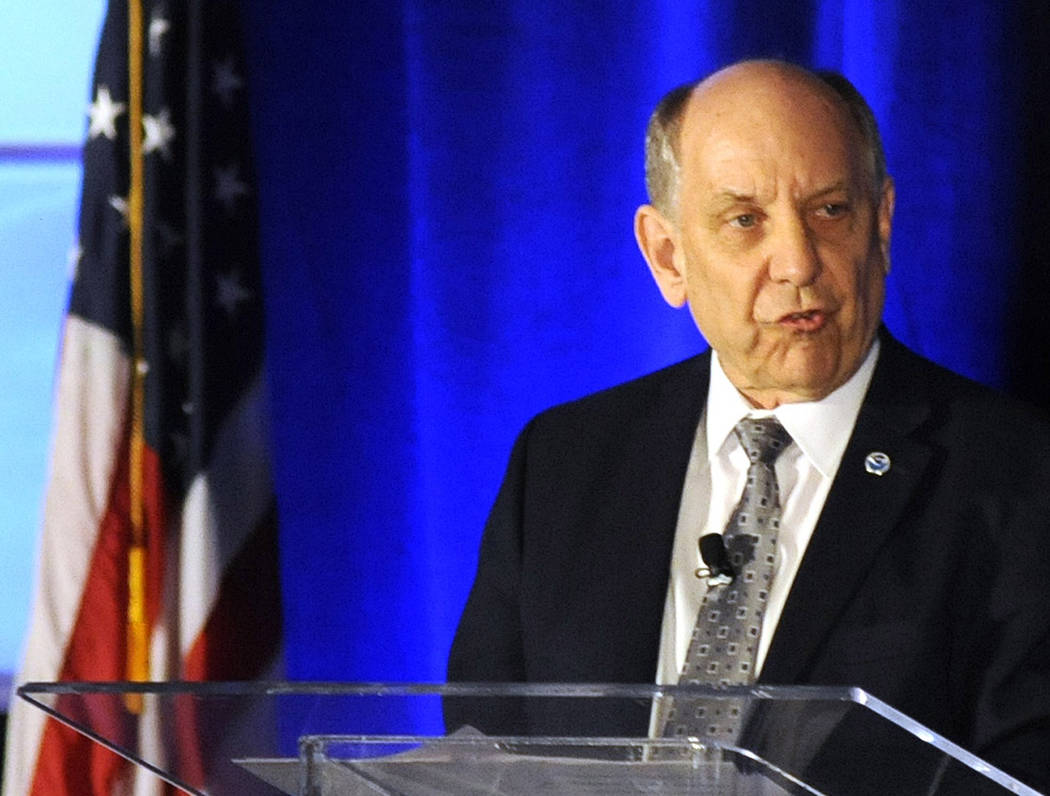 National Weather Service Director Louis Uccellini addresses a meeting of the National Weather A ...