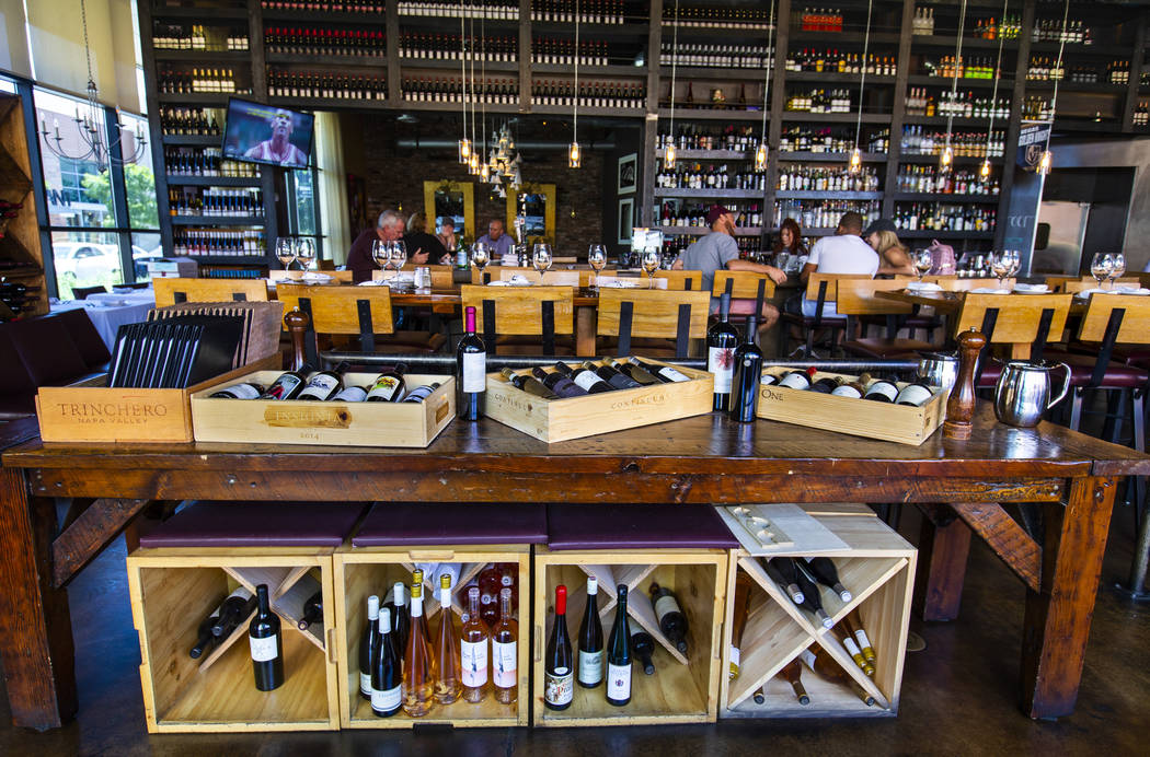Interior view of Grape Street Café, Wine Bar & Cellar in Downtown Summerlin on Tuesday, Sept. ...