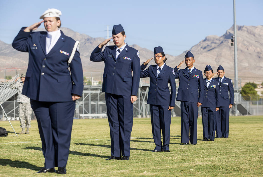 Palo Verde High School's Air Force JROTC students hold their annual rededication ceremony in re ...