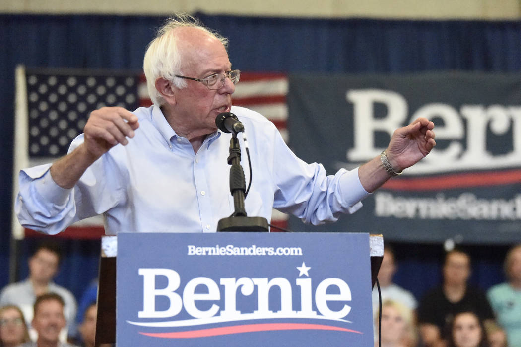 Democratic presidential hopeful Bernie Sanders. (AP Photo/Meg Kinnard)