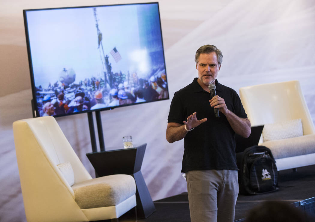 "MGM Resorts International CEO Jim Murren speaks during a ""Whiskey and War Stories"" ev ..."