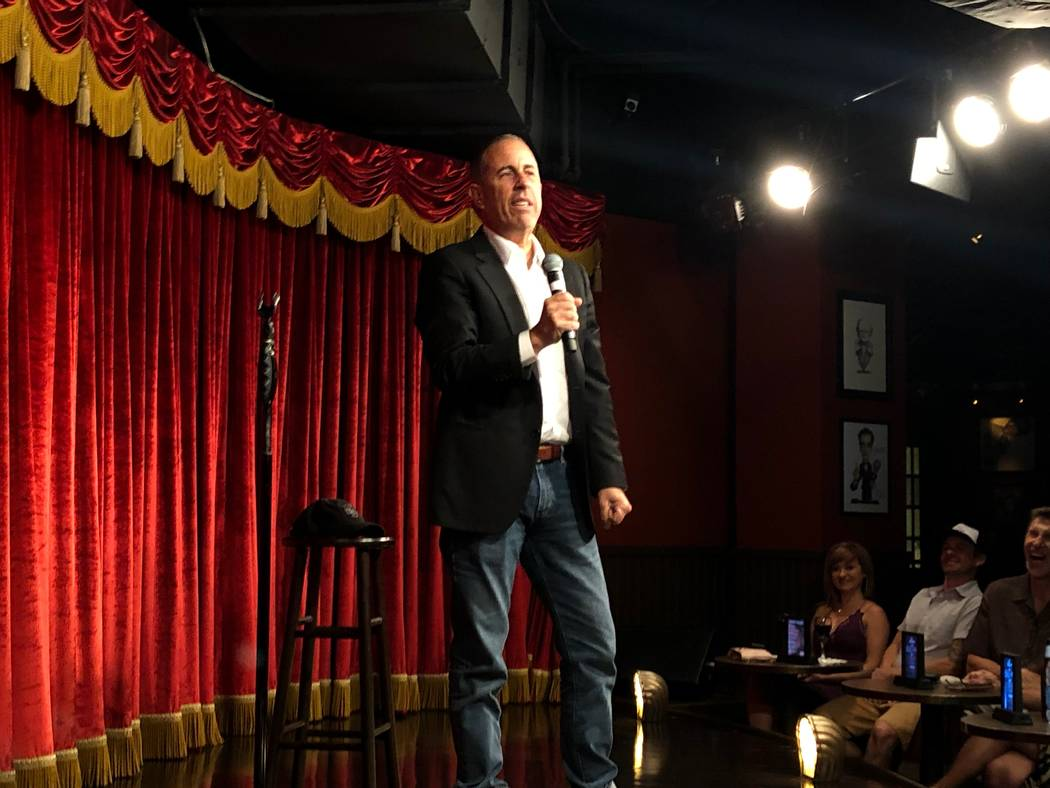 Jerry Seinfeld drops into Brad Garrett's Comedy Club in ... Brad Garrett Comedy Club Mgm