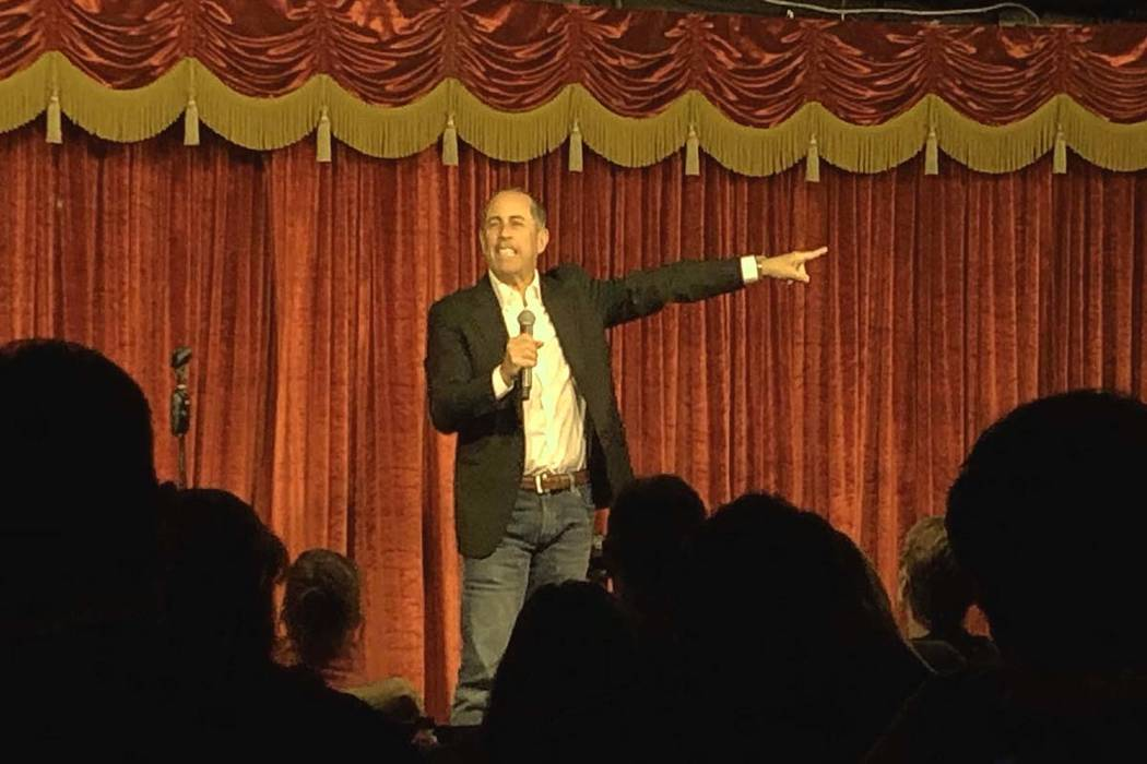 Jerry Seinfeld is shown in an unbilled performance at Brad Garrett's Comedy Club at MGM Grand o ...