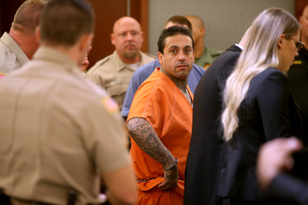 "Zackaria ""Lil Dog"" Luz appears in court at the Regional Justice Center in Las Vegas W ..."