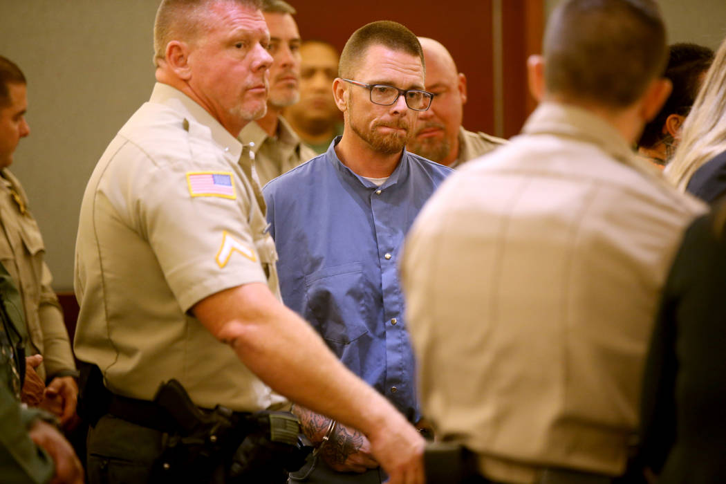 "Erik ""E"" Rasmussen appears in court at the Regional Justice Center in Las Vegas Wedne ..."