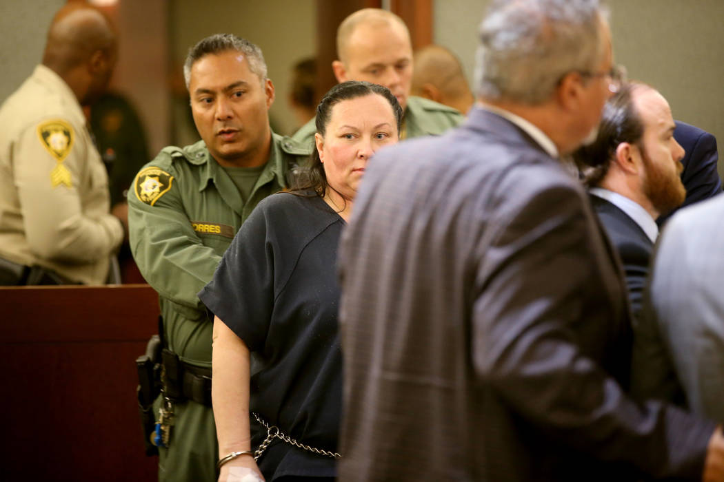 Norma Snyder appears in court at the Regional Justice Center in Las Vegas Wednesday, Sept. 11, ...