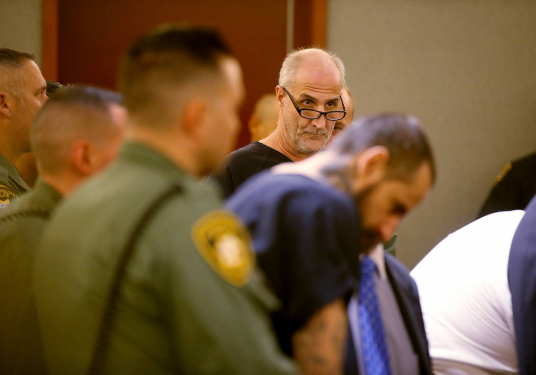 "Michael ""Sully"" Sullivan appears in court at the Regional Justice Center in Las Vegas ..."