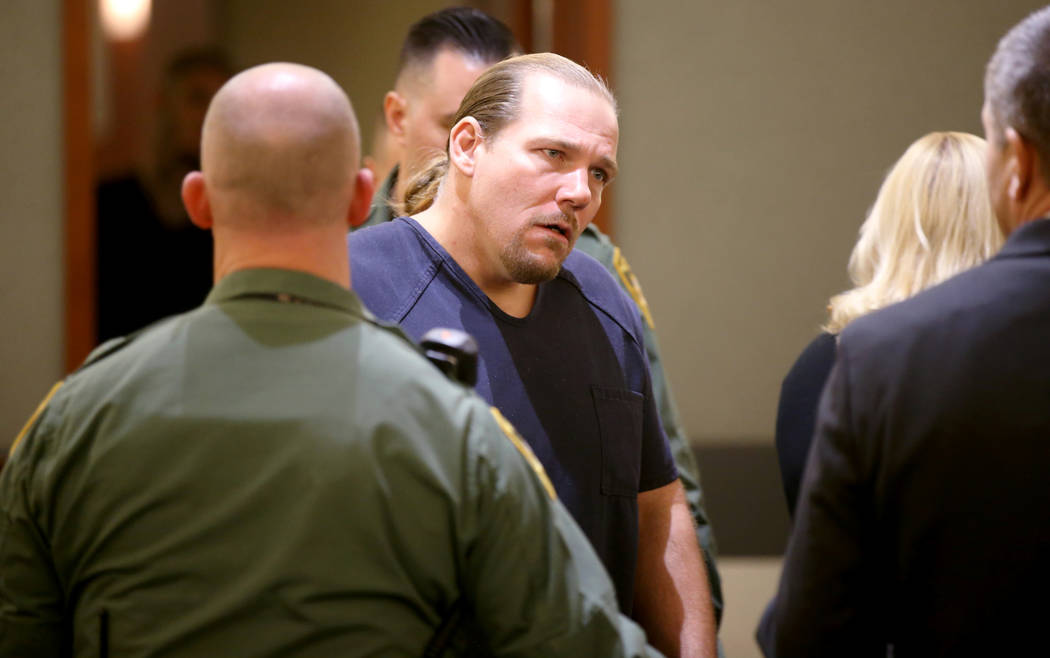 "Jess ""Big Jess"" Guth appears in court at the Regional Justice Center in Las Vegas Wed ..."