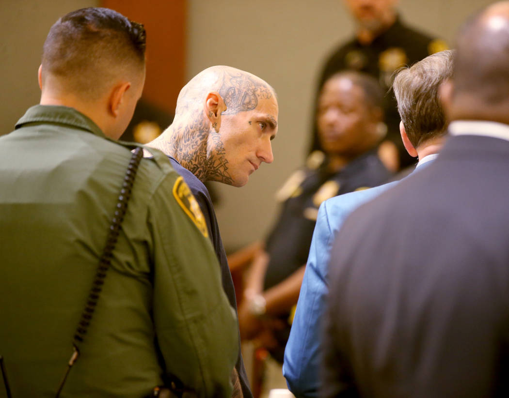 Richard Manning appears in court at the Regional Justice Center in Las Vegas Wednesday, Sept. 1 ...